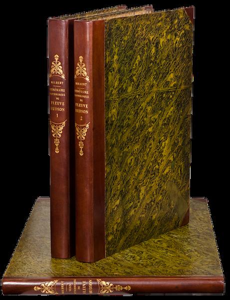 Itineraire Pittoresque du Fleuve Hudson Atlas - Book Display (1828)