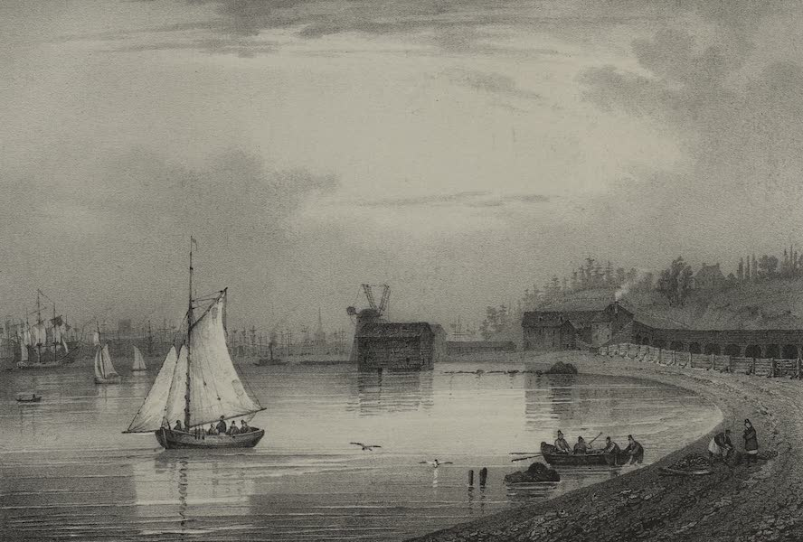 Itineraire Pittoresque du Fleuve Hudson Atlas - Pierpont's Distillery on Long Island (1828)