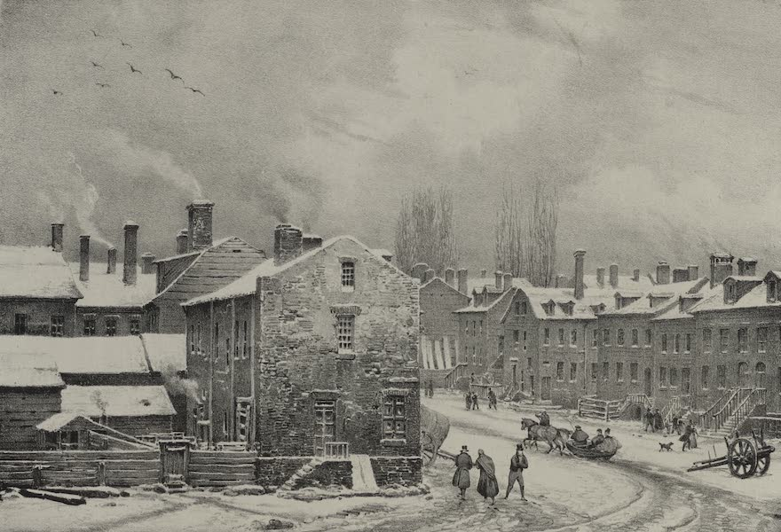 Itineraire Pittoresque du Fleuve Hudson Atlas - Interior of New York, Provost Street and Chapel (1828)