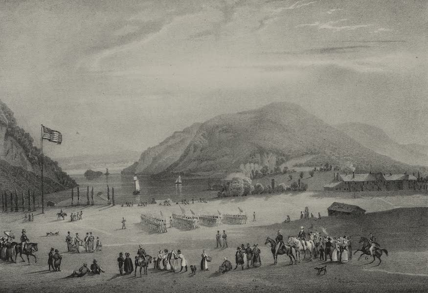 Itineraire Pittoresque du Fleuve Hudson Atlas - West Point at the Moment of Exercise (1828)