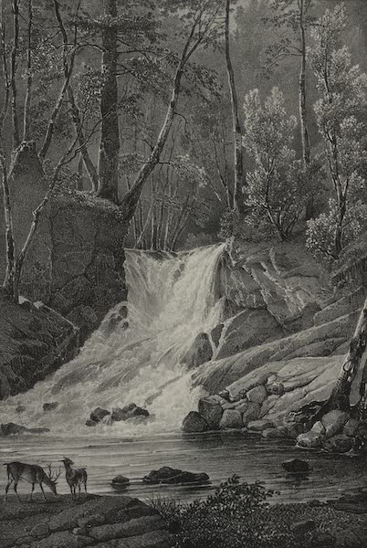 Itineraire Pittoresque du Fleuve Hudson Atlas - Indian Brook in the residence of Captain Philips (1828)