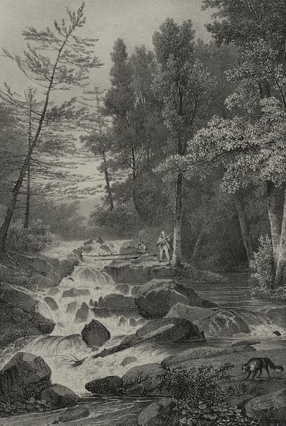 Itineraire Pittoresque du Fleuve Hudson Atlas - Lower Falls near the residence of Mr. Montgomery (1828)