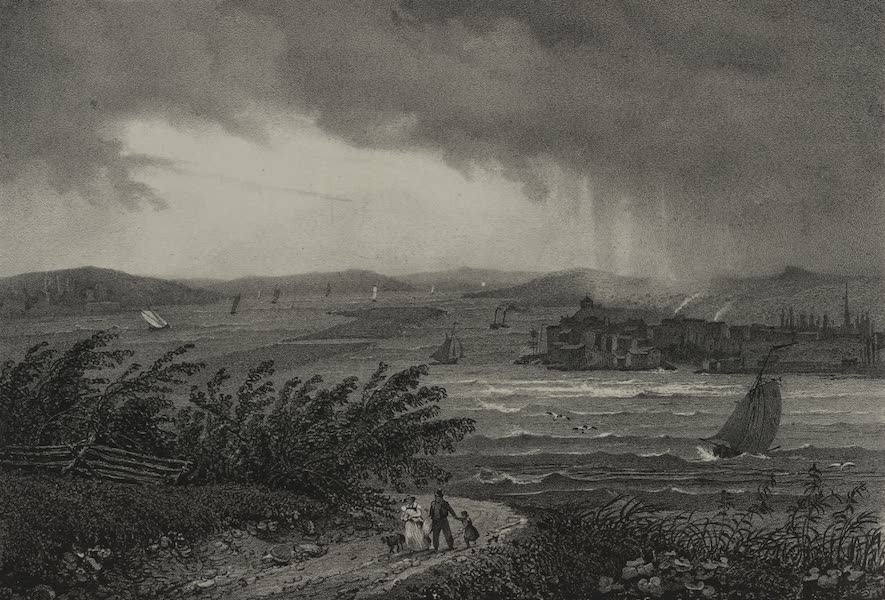 Itineraire Pittoresque du Fleuve Hudson Atlas - Town of Hudson (1828)