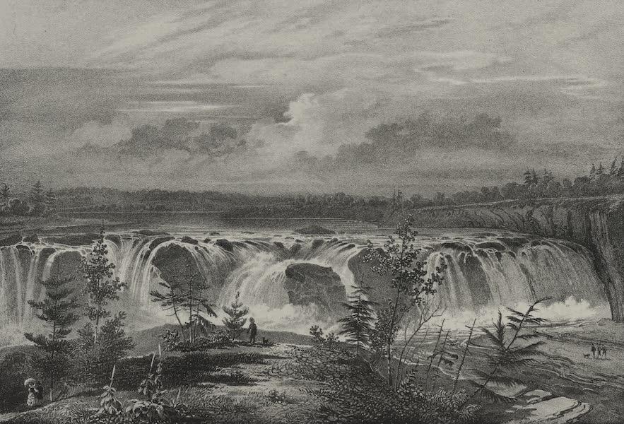 Itineraire Pittoresque du Fleuve Hudson Atlas - Falls of Cohoes, of the River Mohawk (1828)
