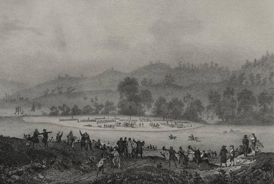 Itineraire Pittoresque du Fleuve Hudson Atlas - Spot where General Burgoyne surrendered to General Gates (1828)