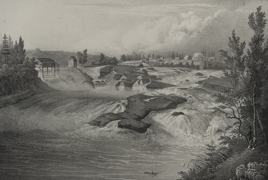 Itineraire Pittoresque du Fleuve Hudson Atlas - Falls of the Hudson at Sandy Hill (1828)