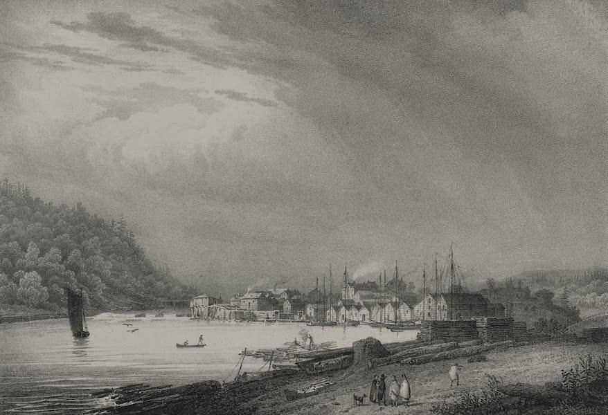 Itineraire Pittoresque du Fleuve Hudson Atlas - White Hall, Lake Champlain (1828)