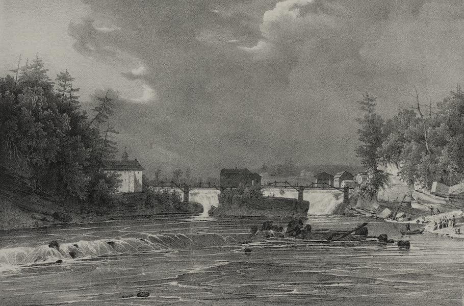 Itineraire Pittoresque du Fleuve Hudson Atlas - Hudson Fall at village of Gleens (1828)