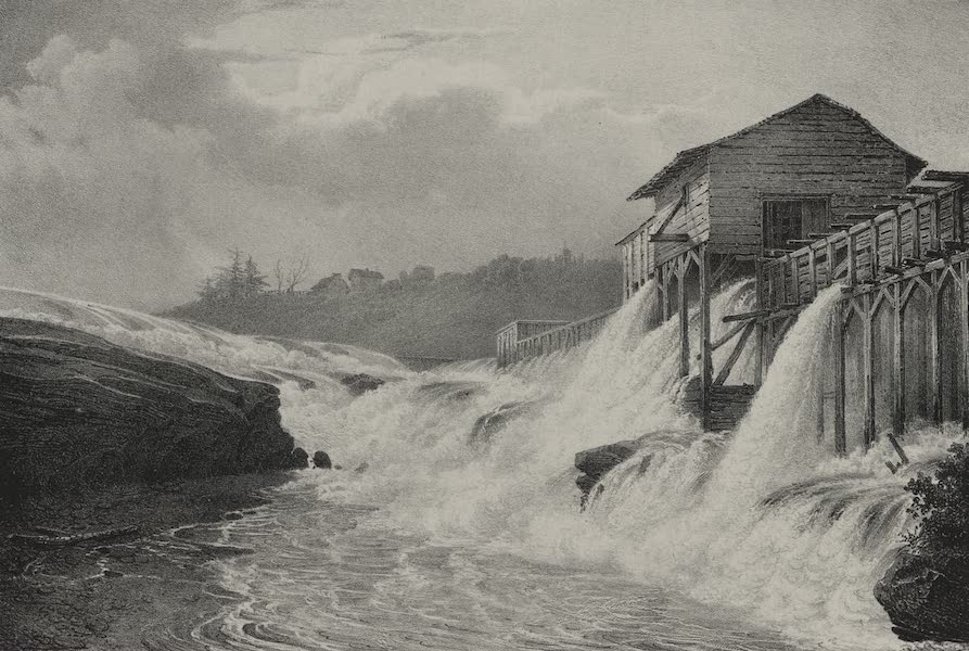 Itineraire Pittoresque du Fleuve Hudson Atlas - Saw Mill at the village of Gleens (1828)