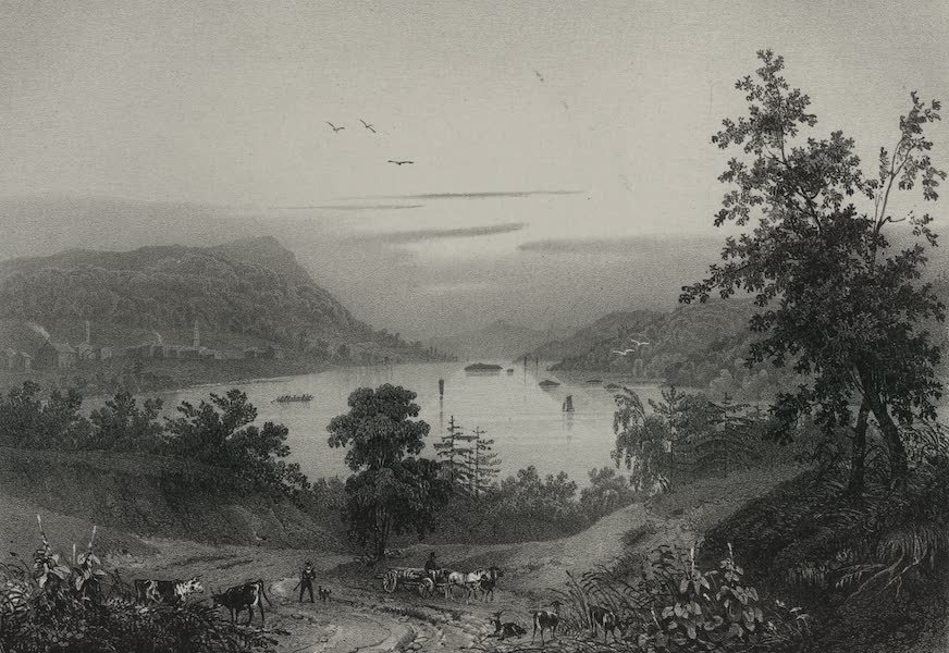 Itineraire Pittoresque du Fleuve Hudson Atlas - Lake George and the village of Caldwell (1828)
