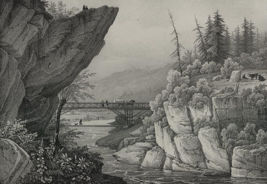 Itineraire Pittoresque du Fleuve Hudson Atlas - Bridge on the Hudson River near Luzerne (1828)