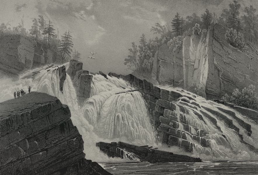 Itineraire Pittoresque du Fleuve Hudson Atlas - Extremity of Adley's Falls (1828)