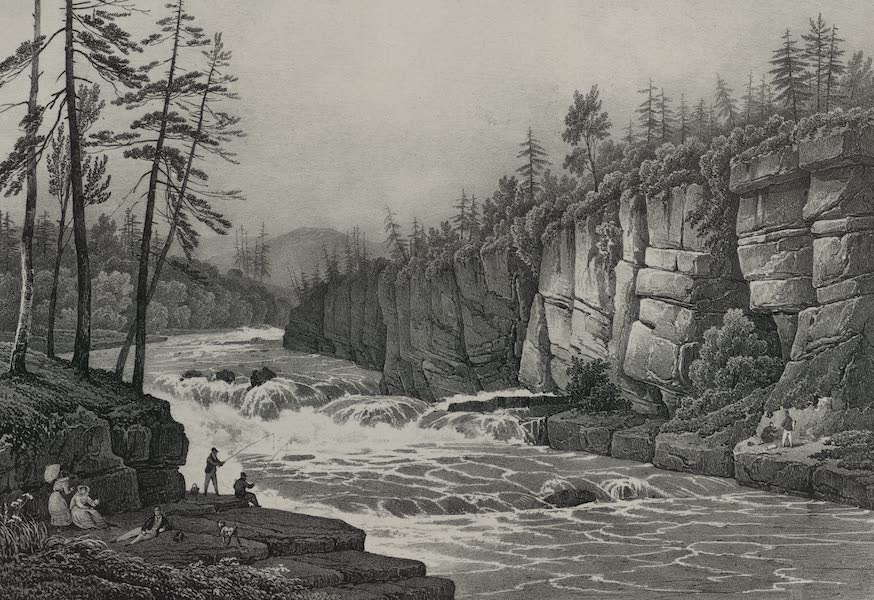 Itineraire Pittoresque du Fleuve Hudson Atlas - Rapids on the Hudson at Adley's (1828)