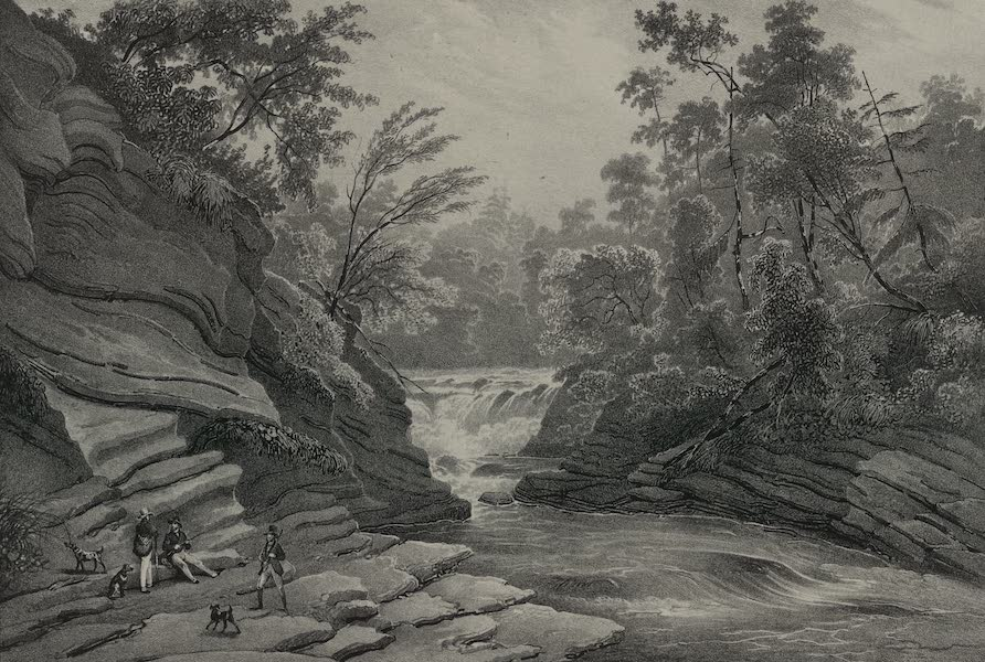 Itineraire Pittoresque du Fleuve Hudson Atlas - Commencement of the Falls of Canada Creek (1828)