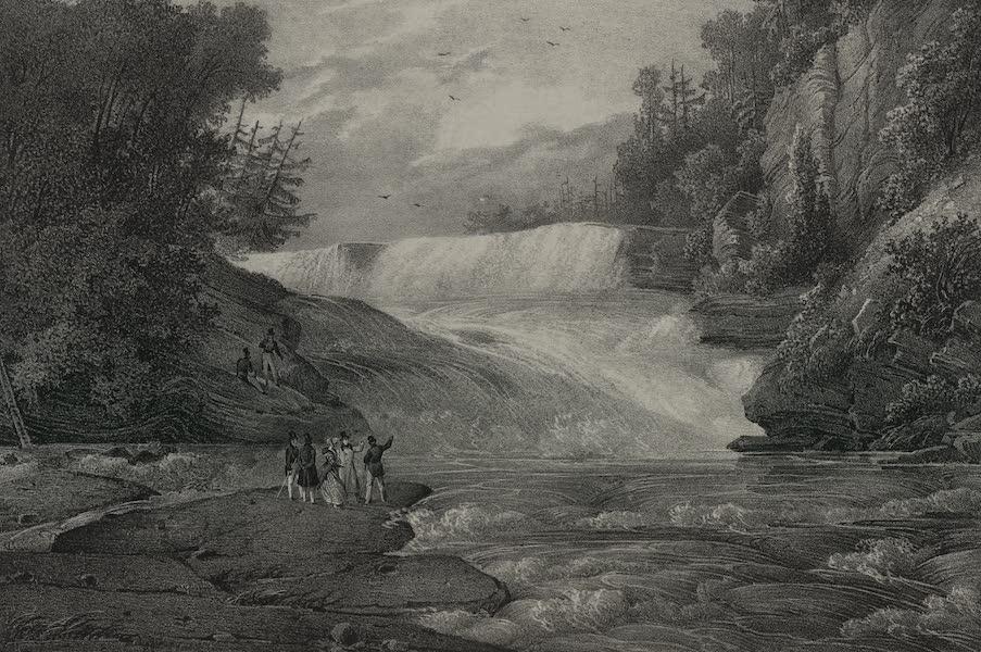 Itineraire Pittoresque du Fleuve Hudson Atlas - Canada Creek Falls (1828)
