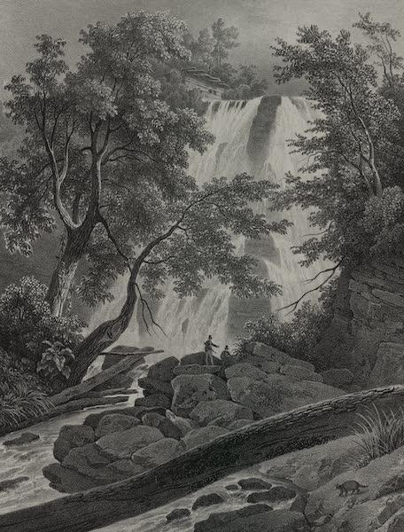 Itineraire Pittoresque du Fleuve Hudson Atlas - Falls on the Flint River (1828)