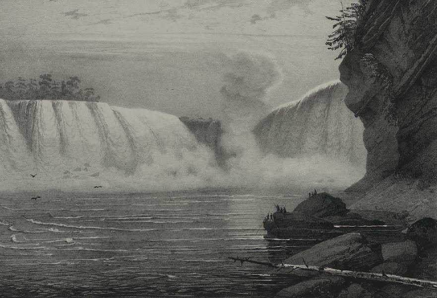 Itineraire Pittoresque du Fleuve Hudson Atlas - Horse Shoe of Niagara from the Canada side (1828)
