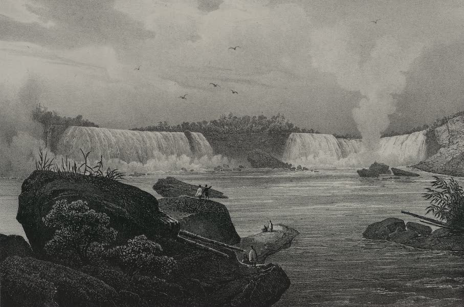 Itineraire Pittoresque du Fleuve Hudson Atlas - General view of Niagara from the Canada side (1828)