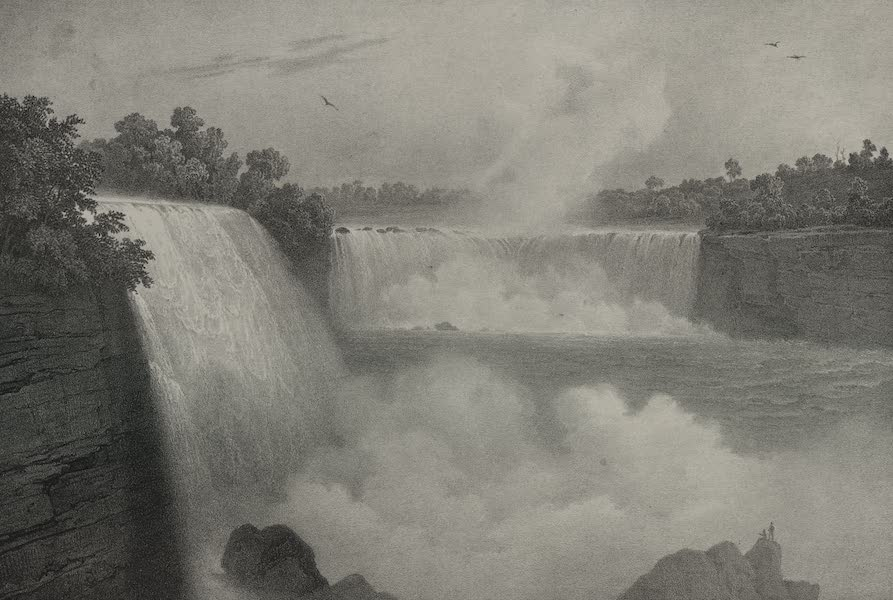 Itineraire Pittoresque du Fleuve Hudson Atlas - Niagara Falls from the American side (1828)
