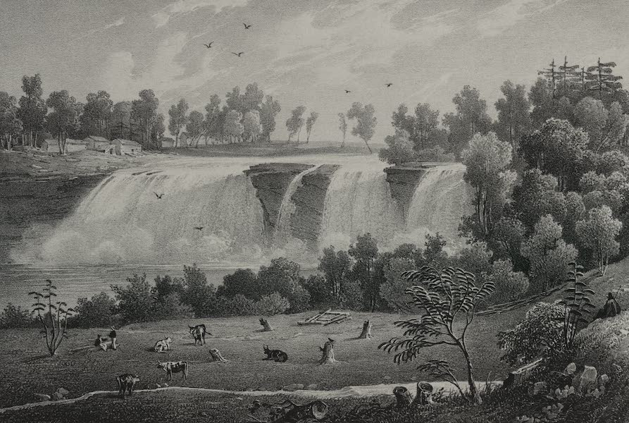 Itineraire Pittoresque du Fleuve Hudson Atlas - Falls in the Genesee Rivers (1828)