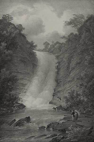 Itineraire Pittoresque du Fleuve Hudson Atlas - Deer Creek Falls (1828)