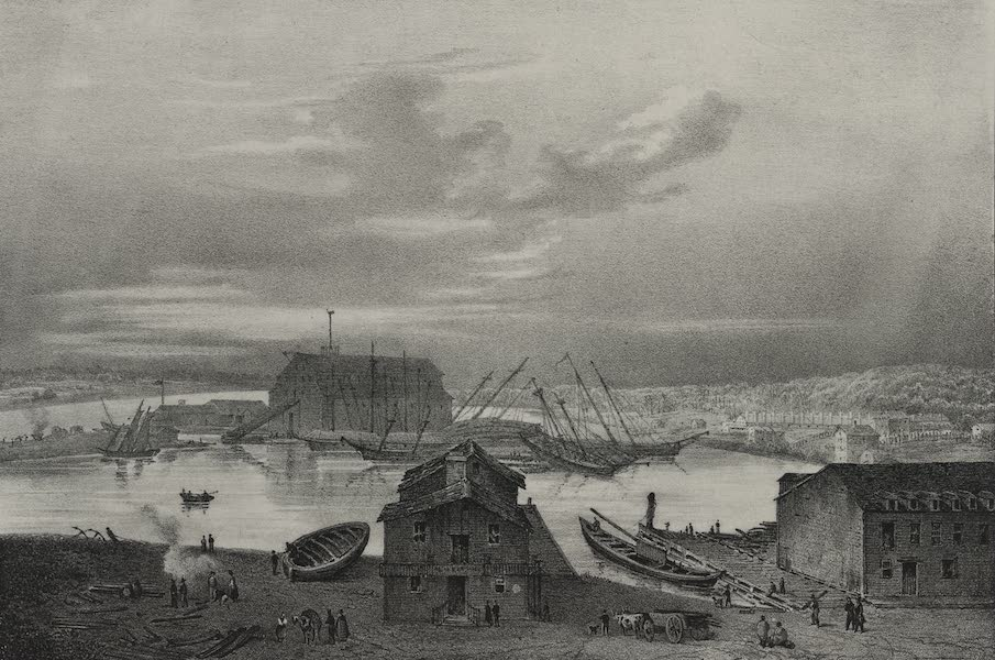 Itineraire Pittoresque du Fleuve Hudson Atlas - Military post, Sacketts Harbor (1828)