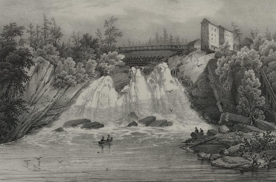 Itineraire Pittoresque du Fleuve Hudson Atlas - Therasa Falls, Indian River (1828)