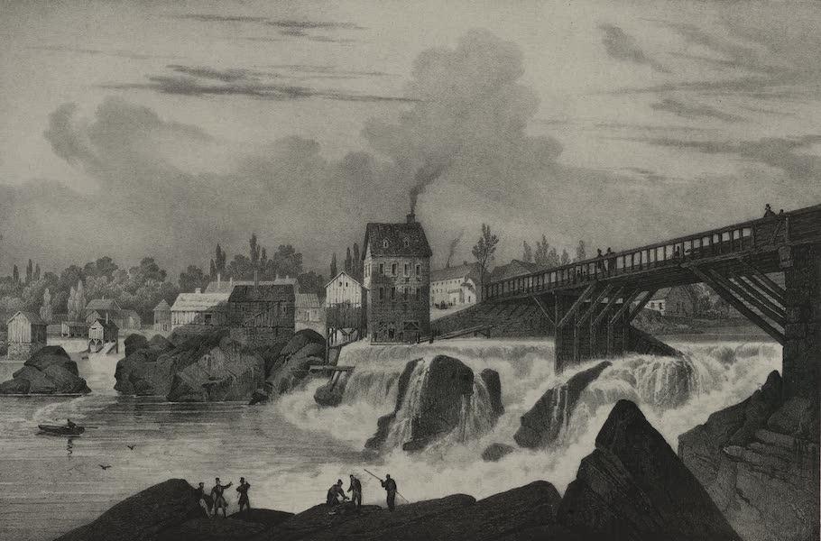 Itineraire Pittoresque du Fleuve Hudson Atlas - Danbucket Falls (1828)