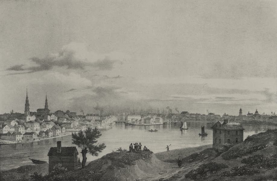 Itineraire Pittoresque du Fleuve Hudson Atlas - North view of Providence (1828)