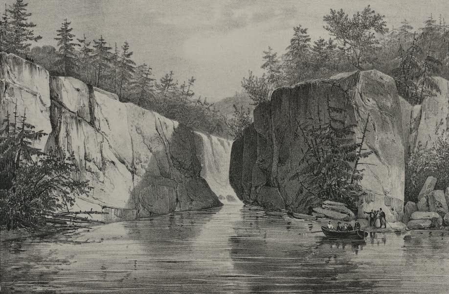 Itineraire Pittoresque du Fleuve Hudson Atlas - Passaic Falls (1828)