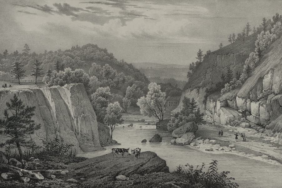 Itineraire Pittoresque du Fleuve Hudson Atlas - View on the Passaic River (1828)