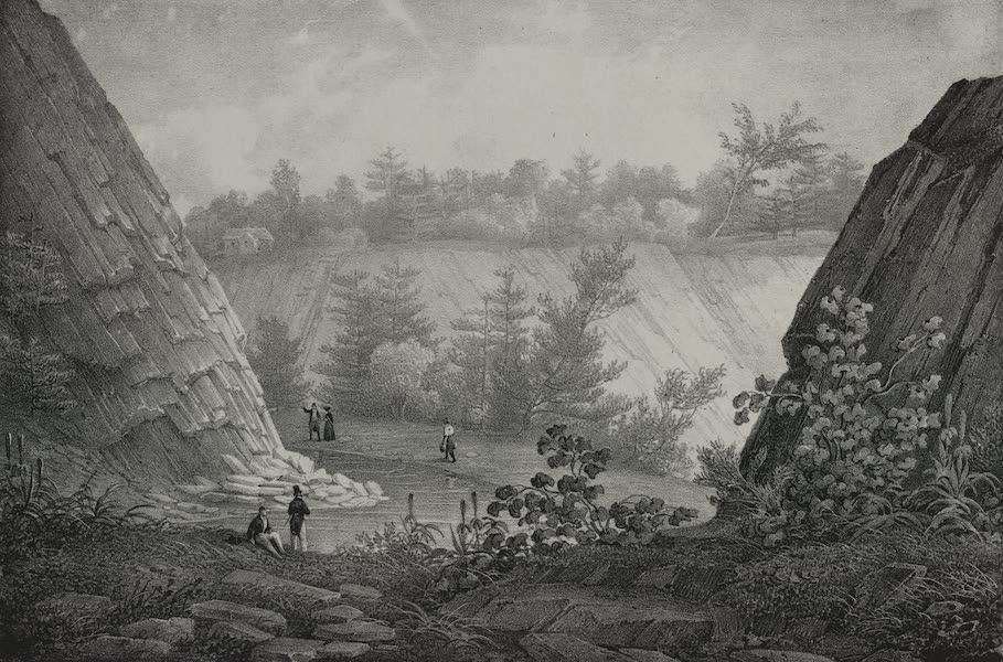 Itineraire Pittoresque du Fleuve Hudson Atlas - Commencement of Lower Falls (1828)