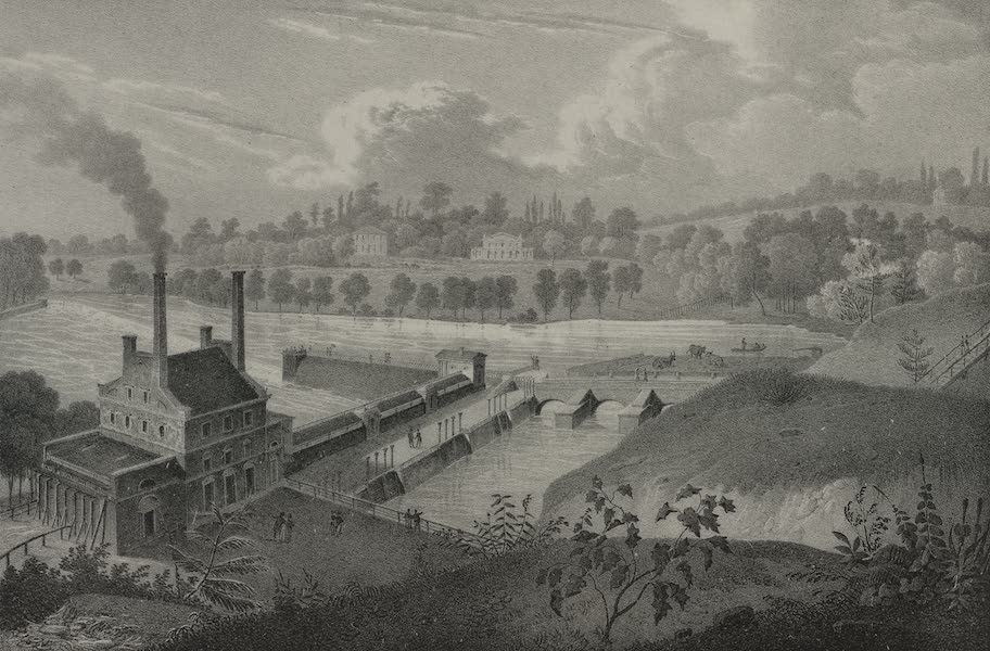 Itineraire Pittoresque du Fleuve Hudson Atlas - Water works on the Schuylkill River (1828)