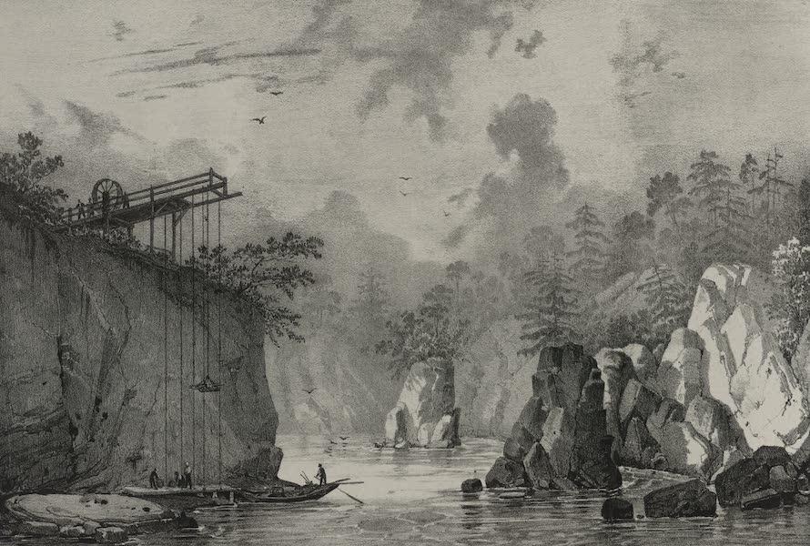Itineraire Pittoresque du Fleuve Hudson Atlas - Machine for the portage on the Susquehanna (1828)