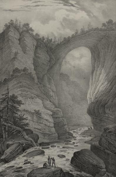 Itineraire Pittoresque du Fleuve Hudson Atlas - View of the natural Bridge (1828)