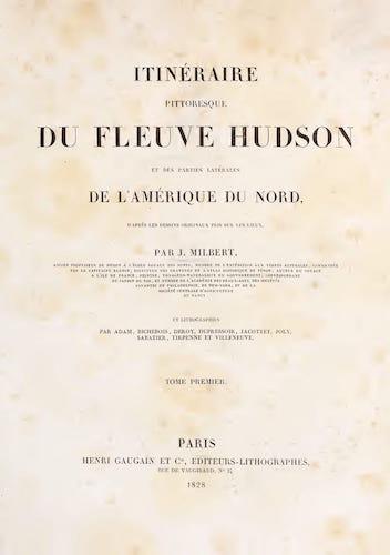 Itineraire Pittoresque du Fleuve Hudson Vol. 1 - Title Page (1828)