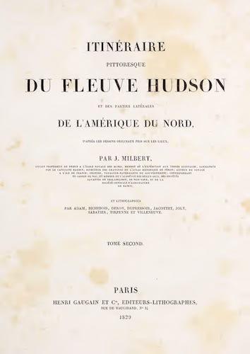 Itineraire Pittoresque du Fleuve Hudson Vol. 2 - Title Page (1828)