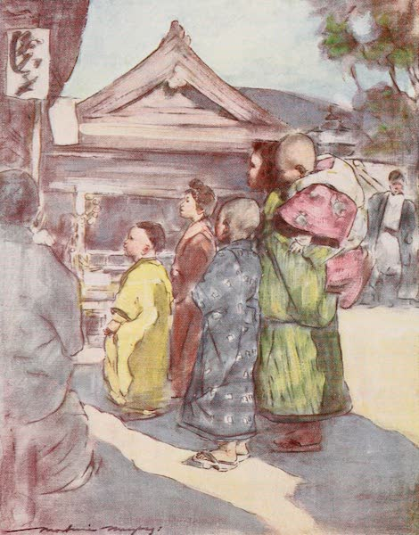 Japan : A Record in Colour - Watching the Play (1901)