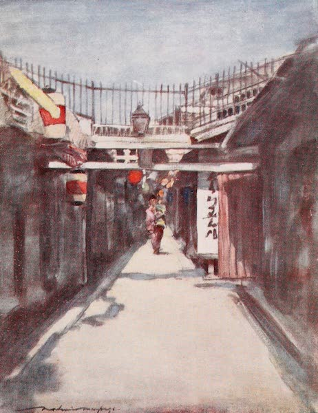 Japan : A Record in Colour - The Street with the Gallery (1901)