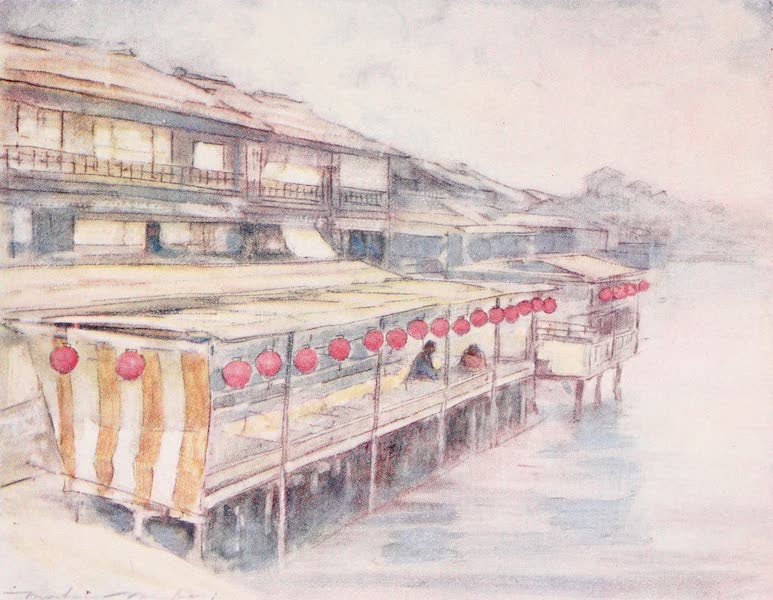 Japan : A Record in Colour - Tea-house by the River (1901)