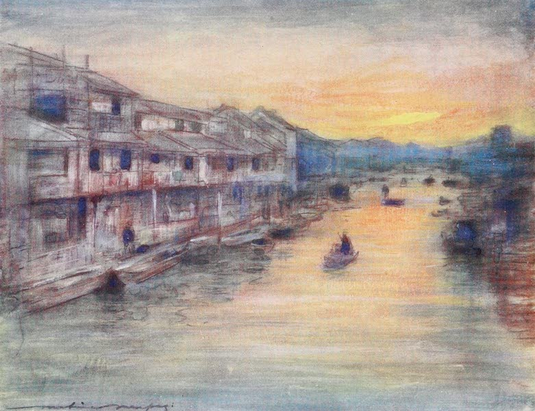 Japan : A Record in Colour - On the Great Canal, Osaka (1901)