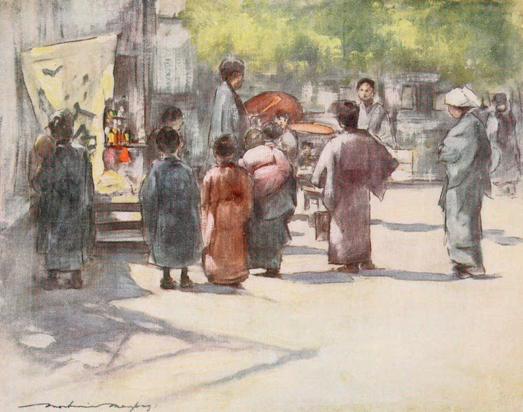 Japan : A Record in Colour - In Front of the Stall (1901)