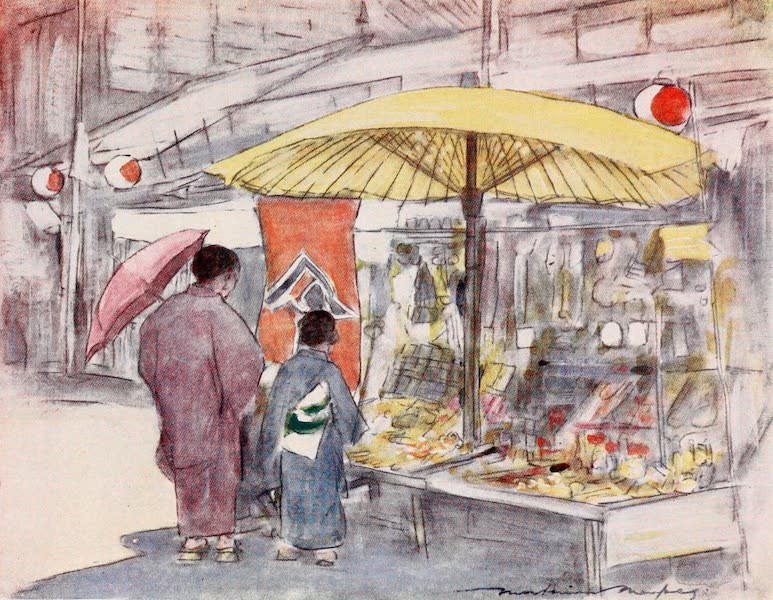 Japan : A Record in Colour - The Stall by the Bridge (1901)