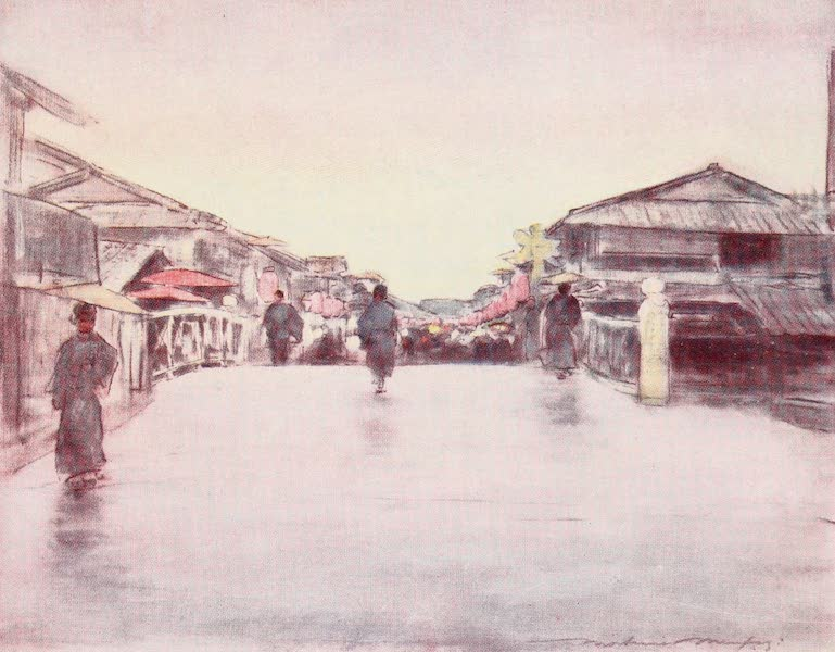 Japan : A Record in Colour - Street of Pink Lanterns (1901)