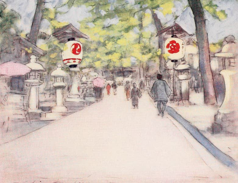 Japan : A Record in Colour - An Avenue of Lanterns (1901)