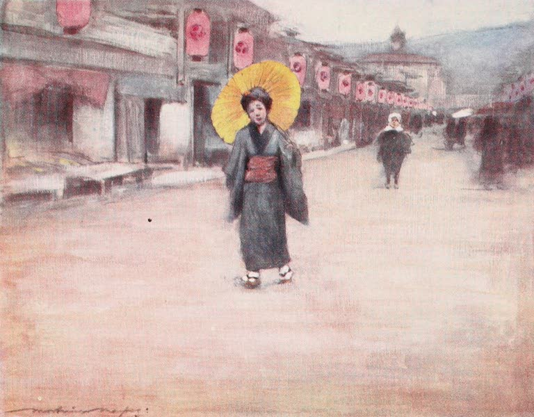 Japan : A Record in Colour - A Street in Kioto (1901)