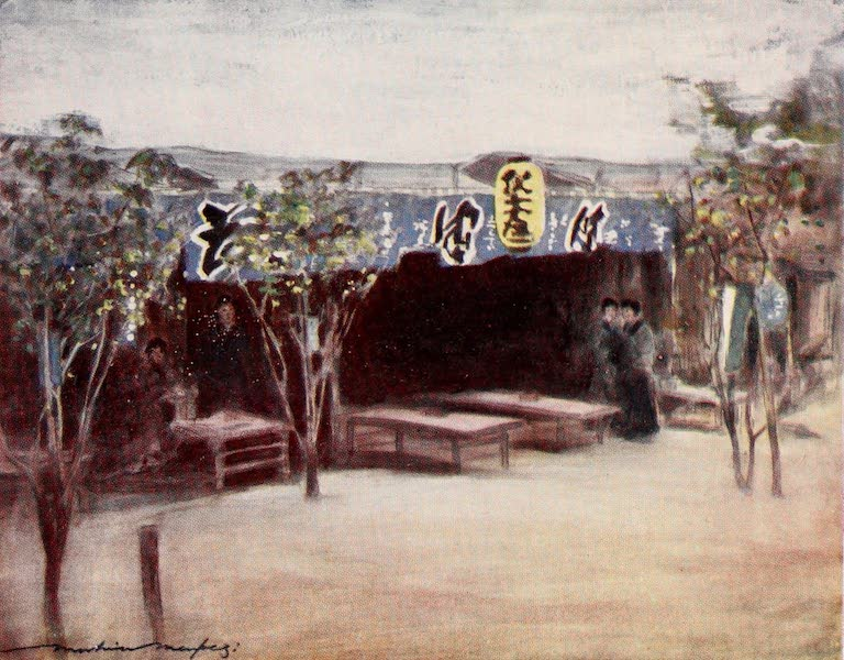 Japan : A Record in Colour - A Suburban Tea-house (1901)