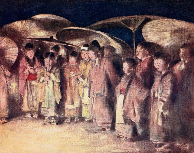 Japan : A Record in Colour - A Street Scene, Kioto (1901)