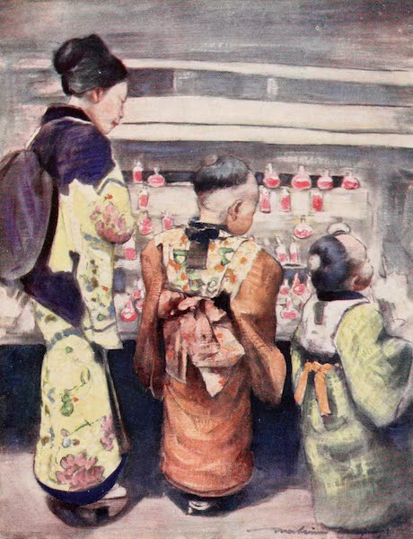 Japan : A Record in Colour - Sugar-water Stall  (1901)