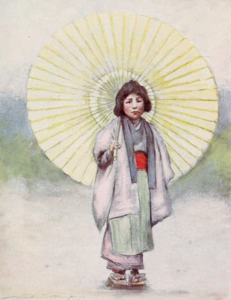 Japan : A Record in Colour - The Child and the Umbrella (1901)